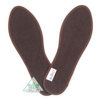 Lót giày Quế Thun Cotton cao cấp CI-10 khử mùi hôi chân giúp êm chân ấm chân phòng cảm cúm cải thiên sức khỏe giá sỉ
