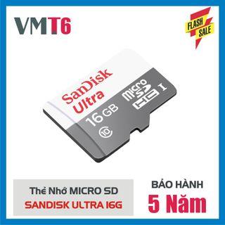 Thẻ Nhớ MicroSDHC SanDisk Ultra 16GB - Bảo hành 5 năm giá sỉ