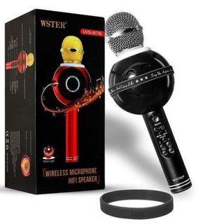 Mic karaoke mặt cười 878 nhiều màu giá sỉ