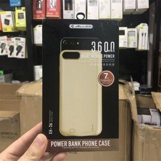 Pin dự phòng Jellico 3600mah kiêm ốp lưng iphone 6 /7 XH36 giá sỉ