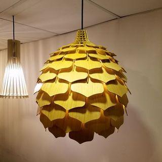 đèn gỗ trang trí hình quả thông LS003 giá sỉ