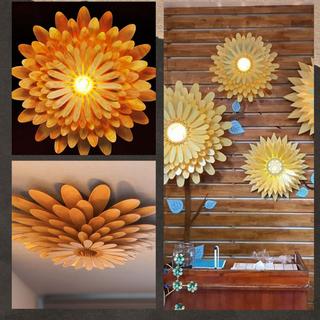 Đèn gỗ trang trí hoa Cúc LS0014 giá sỉ