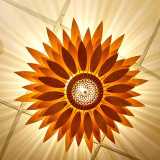Đèn gỗ trang trí hoa hướng dương LS004 giá sỉ