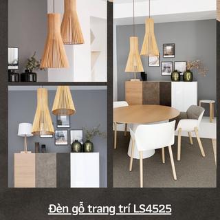 Đèn gỗ trang trí bàn ăn quán coffee LS4525 giá sỉ