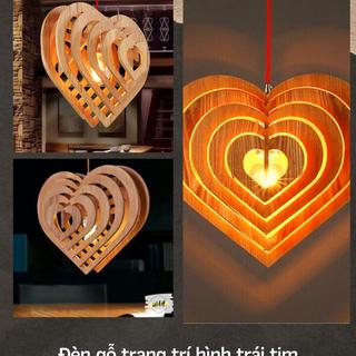 Đèn gỗ trang trí hình trái tim HEA001 giá sỉ