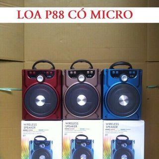 Loa bluetooth p88 tặng kèm mic giá sỉ