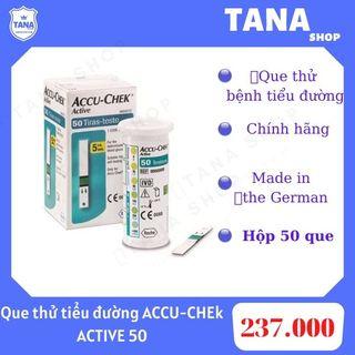 Que thử tiểu đường ACCU CHEK ACTIVE 50 giá sỉ