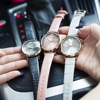 Đồng hồ nữ GUOU 8149 dây da giá sỉ