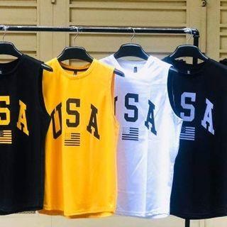 Đồ bộ thể thao nam mặc nhà in USA giá sỉ