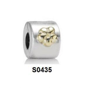 Charm clip hoa măng cụt 2tone S0435 giá sỉ