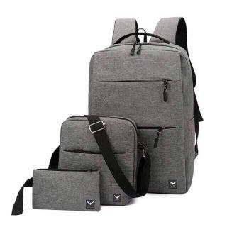 Combo Balo Nam Nữ Laza BL394, gồm balo + túi đeo chéo + ví nhỏ giá sỉ
