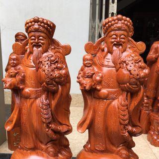 Tượng gỗ Thần Tài hoan hỷ giá sỉ