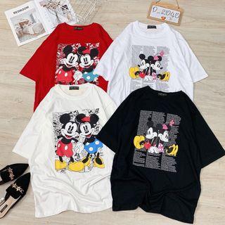 Áo thun Mickey form rộng dài style giấu quần giá sỉ