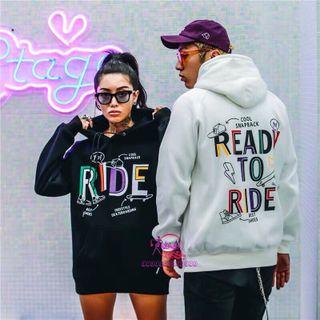 Áo hoodie nam nữ in chữ RIDE giá sỉ, giá bán buôn giá sỉ
