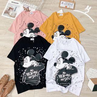 Áo thun Mickey form rộng giá sỉ