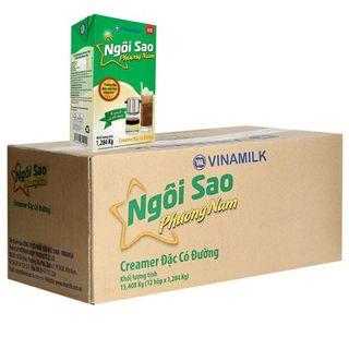 Sữa đặc Ngôi sao Phương nam xanh lá Vinamilk hộp giấy 1284g Thùng 12 hộp giá sỉ
