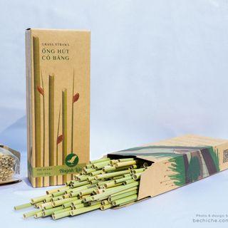 Ống hút cỏ bàng khô - Grass Straw - Huỳnh Lâm giá sỉ
