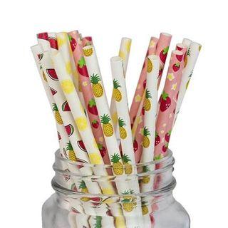 Ống hút giấy trái cây túi 100 ống giá sỉ