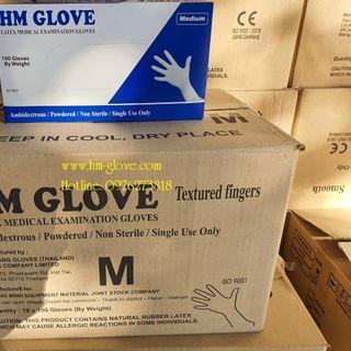 Găng tay y tế hmglove latex thái lan giá sỉ