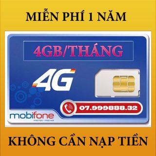 Sim 4G Mobifone Miễn Phí 1 Năm Không Nạp Tiền giá sỉ