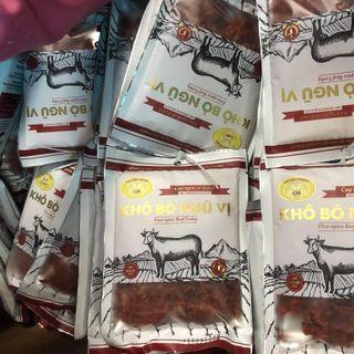 Khô bò ngũ vị 50g dạng miếng giá sỉ