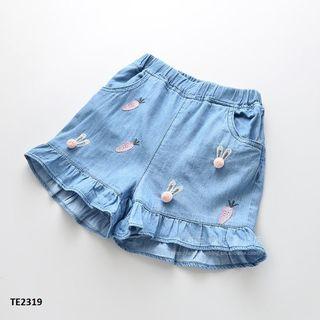 Quần short jean mềm mại thể hoạ tiết dễ thương TE2319 giá sỉ