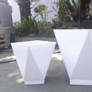 Chậu Cây Vuông Vạt Cạnh Giả Sứ (33x41x20cm) -Trồng Cây Kiểng/Cây Ăn Trái giá sỉ