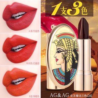 Son thạch 3 màu kèm gương AGAG Nữ Hoàng Ai Cập giá sỉ