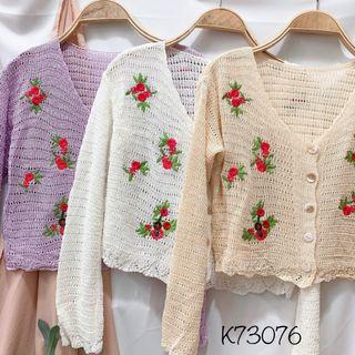 Áo cardigan len thêu hoa giá sỉ