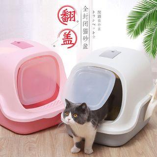 Nhà vệ sinh cho mèo cao cấp nắp gập giá sỉ