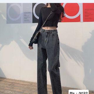 Quần baggy nữ jean ống suông rộng MS3072 kho chuyên sỉ jean nam nữ 2KJean giá sỉ