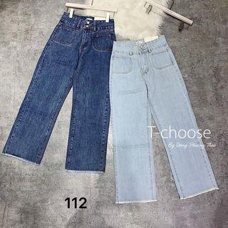 Quần baggy nữ jean ống rộng MS112 kho chuyên sỉ jean nam nữ 2KJean giá sỉ
