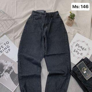 Quần baggy nữ jean màu xám MS146 Kho chuyên sỉ jean nam nữ 2Kjean giá sỉ
