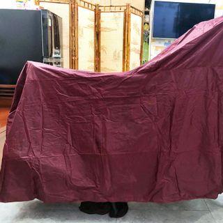 Tấm bạt trùm xe máy chống thấm loại dày tốt màu đỏ đô PKXM004 giá sỉ