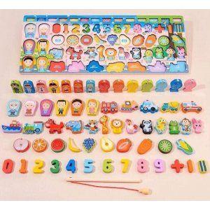 Bộ đồ chơi gỗ bảng số cho bé Keku giá sỉ