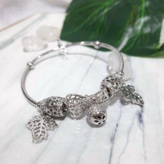 Vòng xi bạc cao cấp - có charm giá sỉ