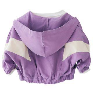 Áo khoác vải bé gái, áo khoác dáng ngắn bo gấu TE 2643 giá sỉ