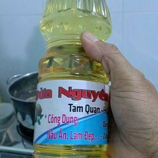 dầu dừa nguyên chất tam quan bình định chai 1lit giá sỉ