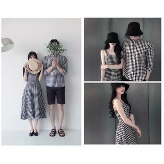 Sét váy sơ mi nam nữ giá sỉ