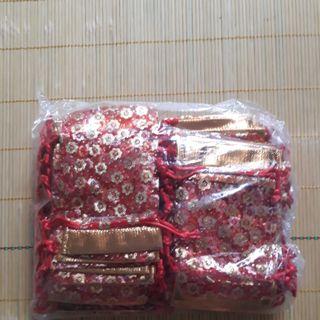 Túi lộc đỏ đựng gạo muối đầu năm giá sỉ