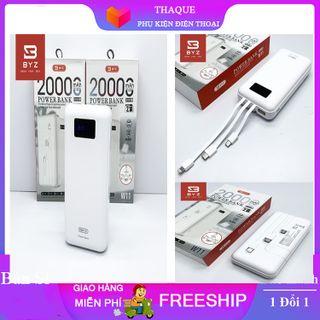 [SẢN PHẨM ]Sạc Dự Phòng BYZ W11 20.000MahCó sẵn 3 dây sạc Micro-USB, Type c, Lightning. giá sỉ
