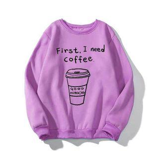 Áo sweater in ly cafe giá sỉ