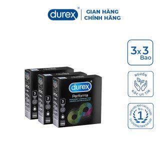 Bao cao su Durex Performa kéo dài thời gian quan hệ - Hộp 3pcs giá sỉ