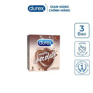 Bao cao su Durex Naughty Chocolate - Hộp 3 pcs giá sỉ