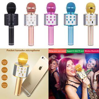 Micro Hát Karaoke Bluetooth Kèm Loa 858 giá sỉ