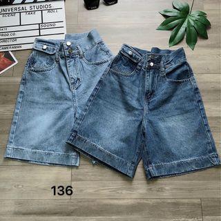 Quần ngố jean nữ size đại kiểu túi nắp Ms136 kho chuyên sỉ jean 2KJean giá sỉ