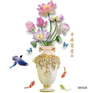 Tranh 3D Hoa Sen - SK9328 giá sỉ