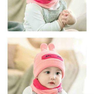 Mũ kèm khăn cho bé giá sỉ