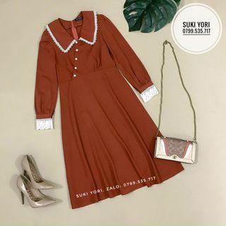 Váy Midi tay dài chuẩn form giá sỉ