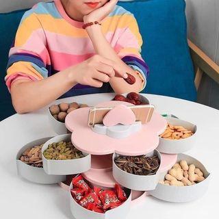 Khay đựng bánh kẹo, mứt tết từ nhựa - khay mứt 5 ngăn giá sỉ